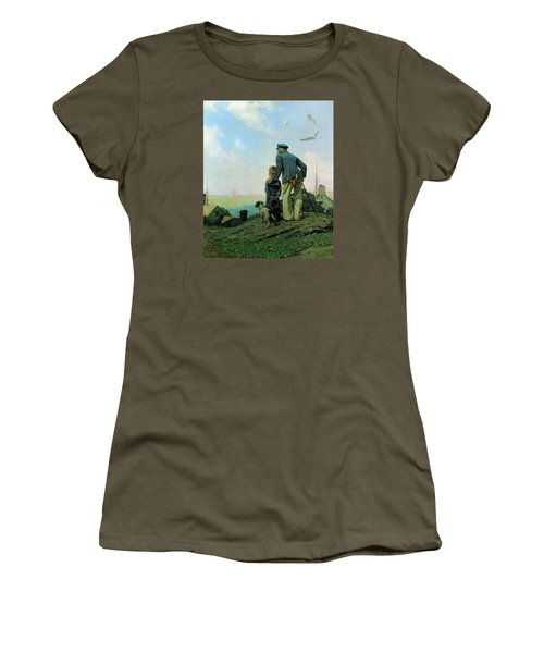 Looking Out To Sea Women's T-Shirt