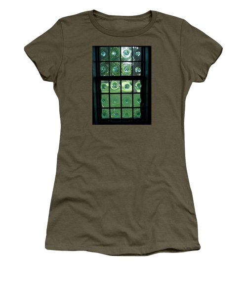 Looking Thru Bubble Glass Window Women's T-Shirt (Athletic Fit)
