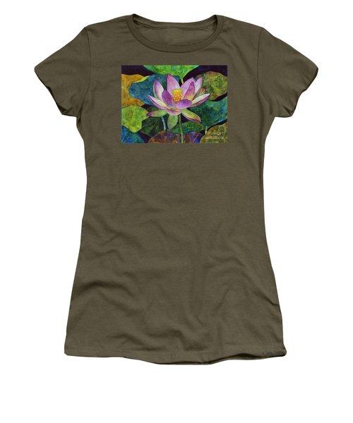 Lotus Bloom Women's T-Shirt (Junior Cut) by Hailey E Herrera
