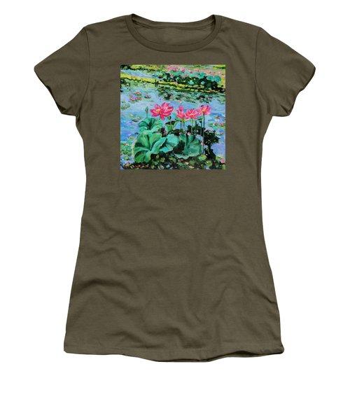 Lotus Women's T-Shirt (Junior Cut) by Alexandra Maria Ethlyn Cheshire