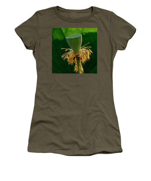 Women's T-Shirt (Athletic Fit) featuring the photograph Lotus Pod 2017 3 by Buddy Scott