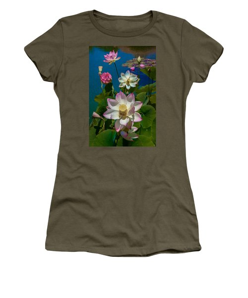 Lotus Pool Women's T-Shirt (Athletic Fit)
