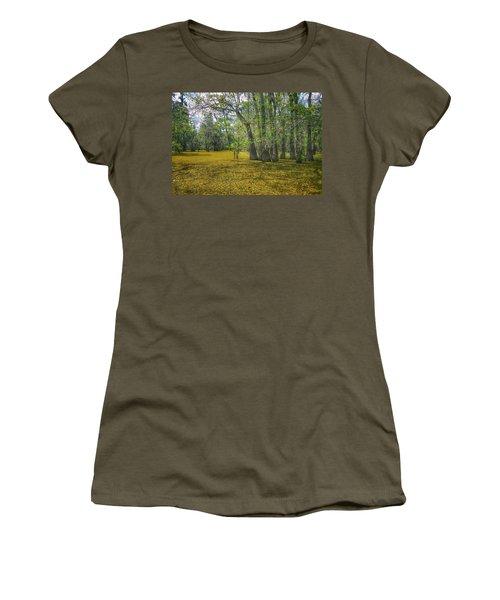 Louisiana Swamp In Gold Women's T-Shirt