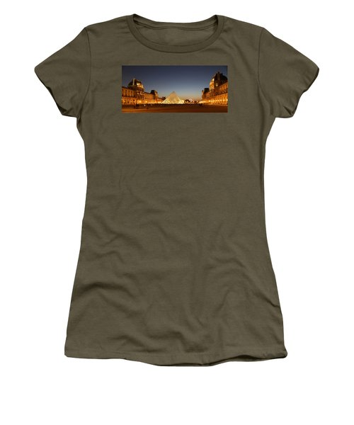Women's T-Shirt (Junior Cut) featuring the photograph Louvre At Night 2 by Andrew Fare