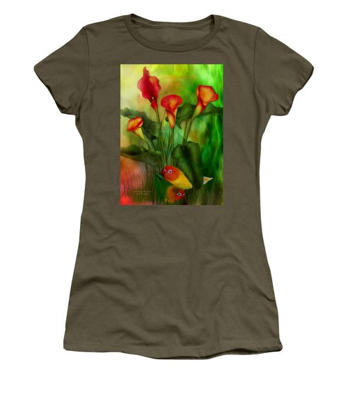 Love Among The Lilies  Women's T-Shirt (Athletic Fit)