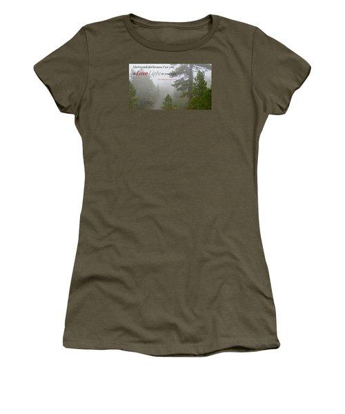 Women's T-Shirt (Junior Cut) featuring the photograph Love Light by David Norman
