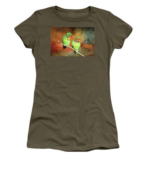 Lovebirds Women's T-Shirt (Athletic Fit)