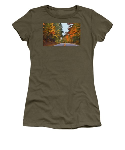 Lovely Autumn Trees Women's T-Shirt (Athletic Fit)