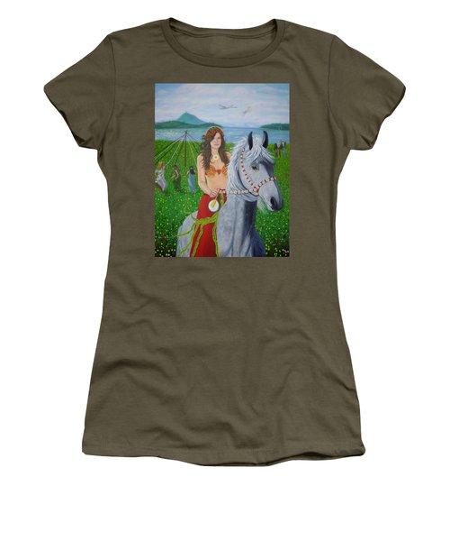 Lover / Virgin Goddess Rhiannon - Beltane Women's T-Shirt