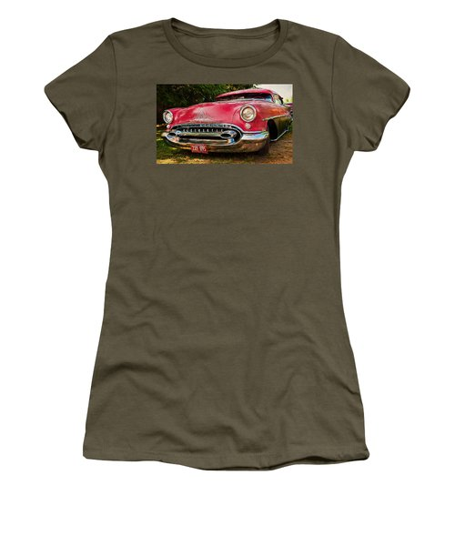 Women's T-Shirt (Junior Cut) featuring the photograph Low Rider Olds by Trey Foerster