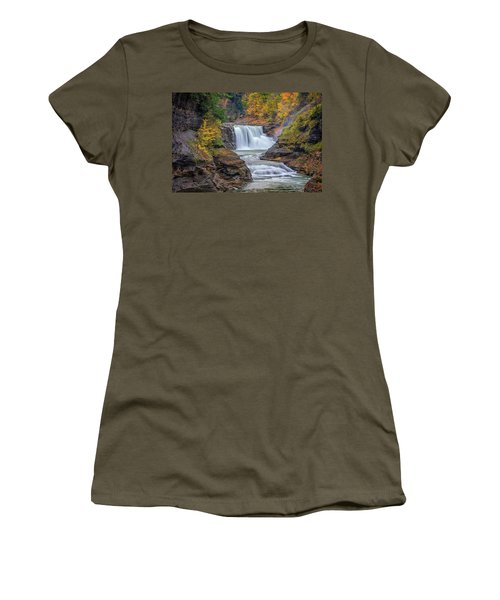 Lower Falls In Autumn Women's T-Shirt