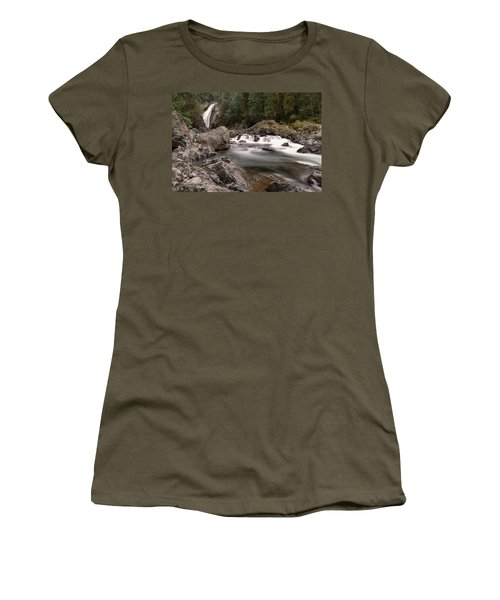 Women's T-Shirt (Junior Cut) featuring the photograph Lower Twin Falls by Jeff Swan