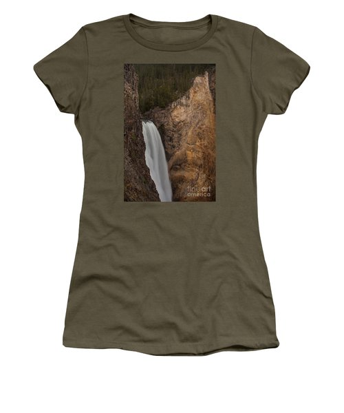 Lower Yellowstone Waterall Women's T-Shirt (Athletic Fit)