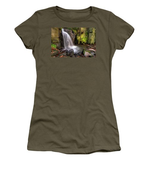Women's T-Shirt (Junior Cut) featuring the photograph Lumsdale Falls 3.0 by Yhun Suarez