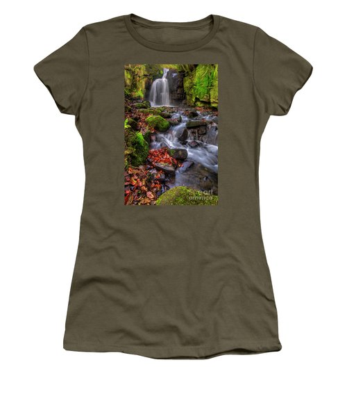Women's T-Shirt (Junior Cut) featuring the photograph Lumsdale Falls 4.0 by Yhun Suarez