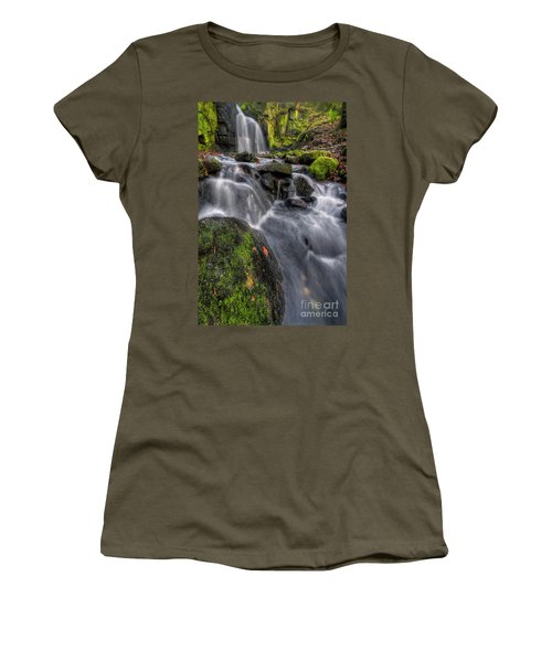 Women's T-Shirt (Junior Cut) featuring the photograph Lumsdale Falls 5.0 by Yhun Suarez