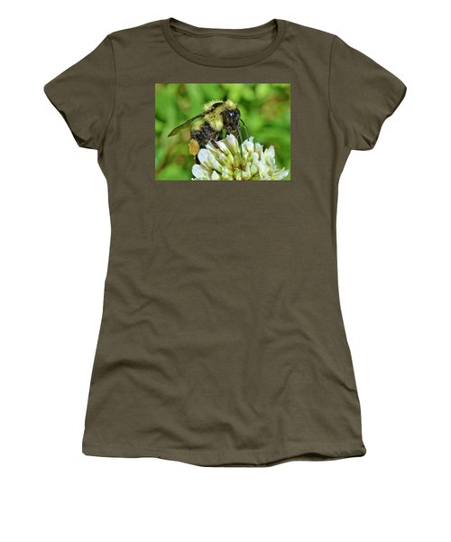Women's T-Shirt featuring the photograph Lunch In The Garden by Ludwig Keck