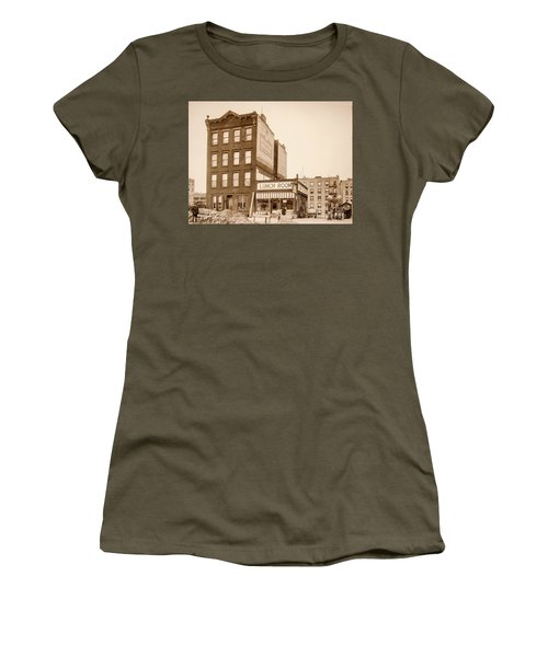 Women's T-Shirt (Athletic Fit) featuring the photograph Lunchroom  by Cole Thompson