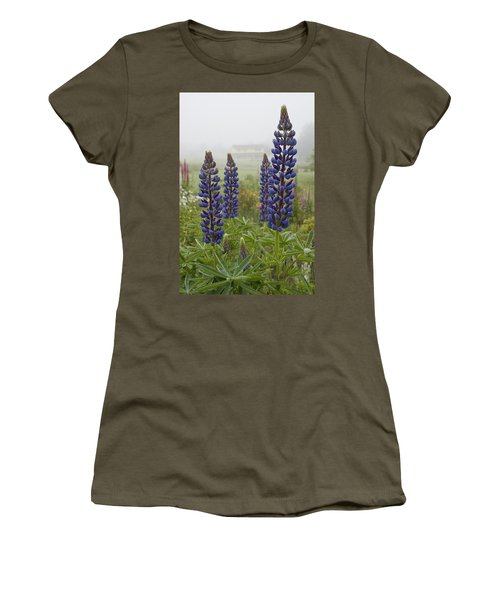 Lupine In The Fog Women's T-Shirt