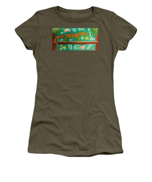 Lurking Iguana Women's T-Shirt (Junior Cut) by Brandon Drucker