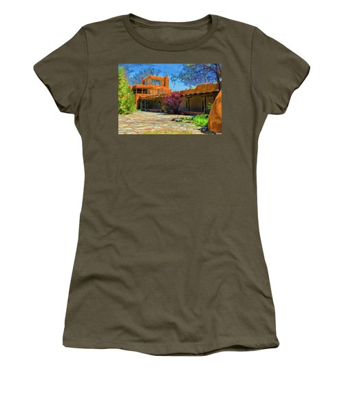 Mabel's Courtyard As Oil Women's T-Shirt (Athletic Fit)