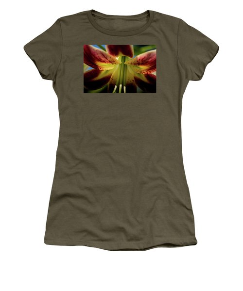 Women's T-Shirt (Junior Cut) featuring the photograph Macro Flower by Jay Stockhaus