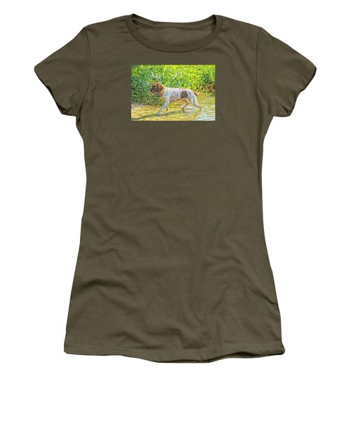 Women's T-Shirt (Junior Cut) featuring the photograph Maggie Stride Photo Art by Constantine Gregory
