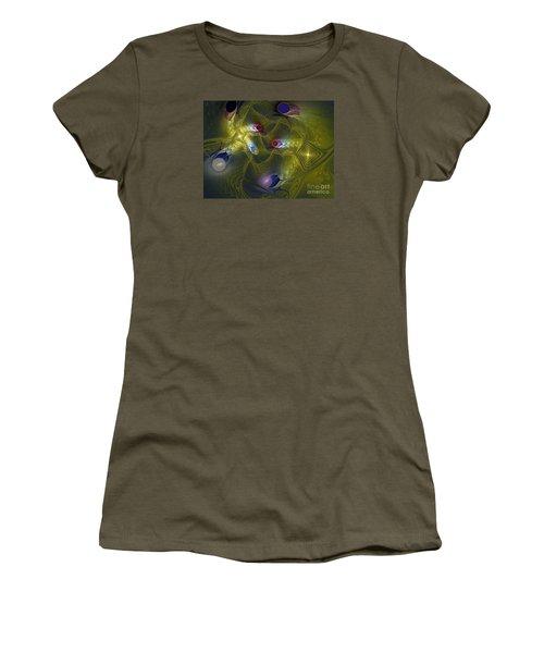 Women's T-Shirt (Junior Cut) featuring the digital art Magic Carpet by Karin Kuhlmann