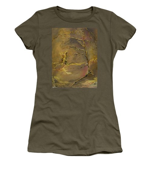 Women's T-Shirt (Junior Cut) featuring the mixed media Magic by Nadine Dennis