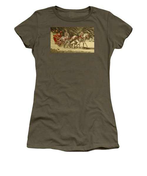 Women's T-Shirt (Junior Cut) featuring the drawing Magical Christmas by Melita Safran