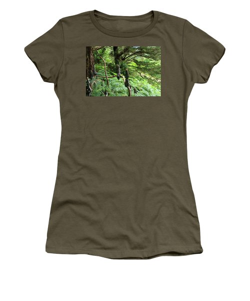 Women's T-Shirt (Junior Cut) featuring the photograph Magical Forest by Aidan Moran