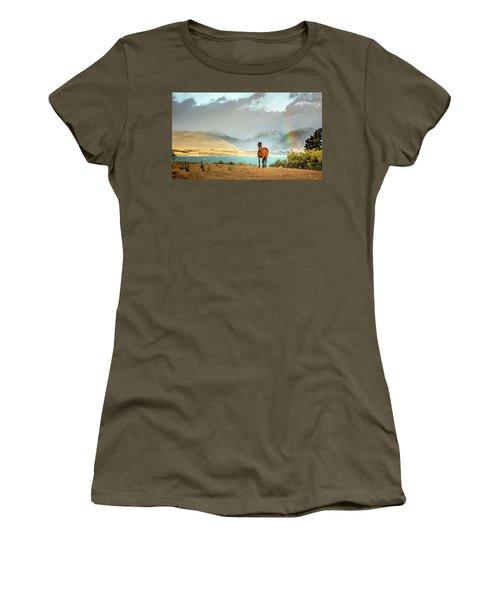 Women's T-Shirt featuring the photograph Magical Tekapo by Chris Cousins