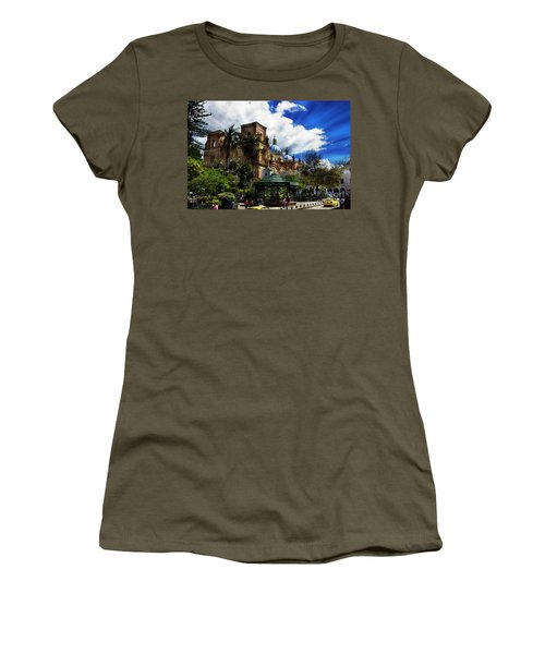 Women's T-Shirt (Junior Cut) featuring the photograph Magnificent Center Of Cuenca, Ecuador IIi by Al Bourassa