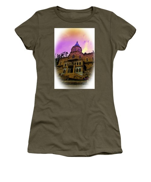 Women's T-Shirt (Junior Cut) featuring the photograph Magnificent Church Of Biblian II by Al Bourassa