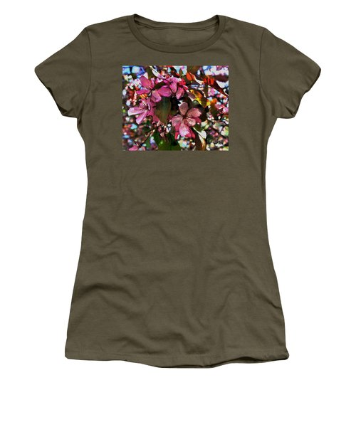 Magnolia Abstract Women's T-Shirt (Junior Cut) by Marsha Heiken