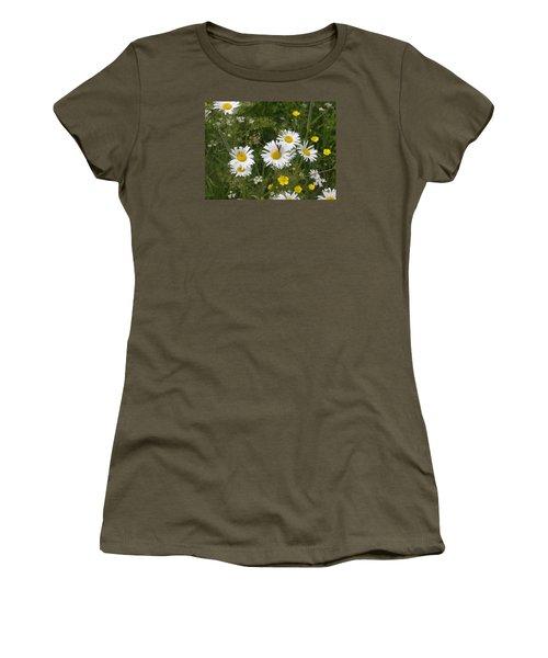 Maine Flowers Women's T-Shirt (Junior Cut) by Helen Haw