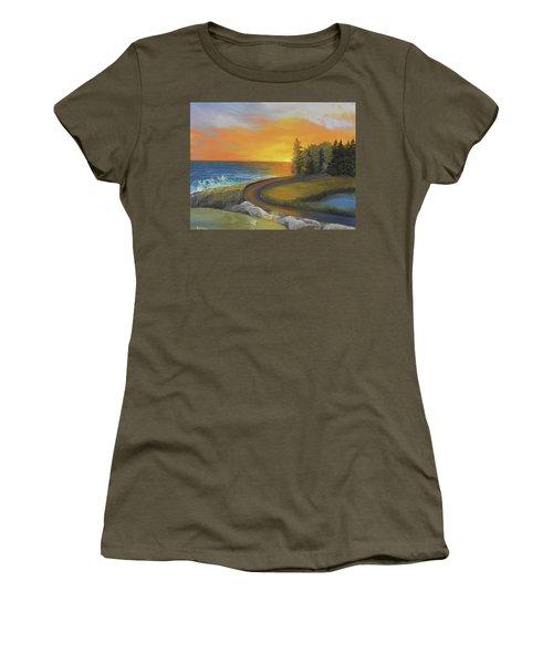 Maine Ocean Sunrise Women's T-Shirt