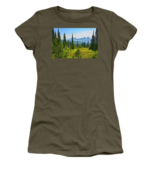 Majestic Meadows Women's T-Shirt (Athletic Fit)