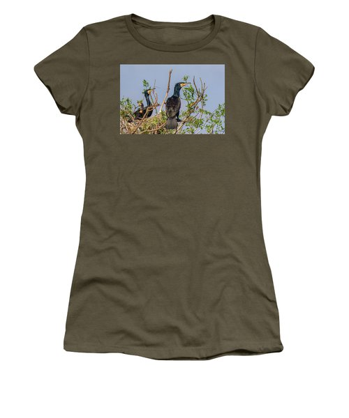Mama, Papa And Kids - Danube Delta Women's T-Shirt (Junior Cut) by Jivko Nakev