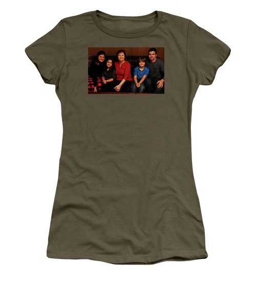 Women's T-Shirt (Junior Cut) featuring the photograph Mamma And Kids by Gene Gregory
