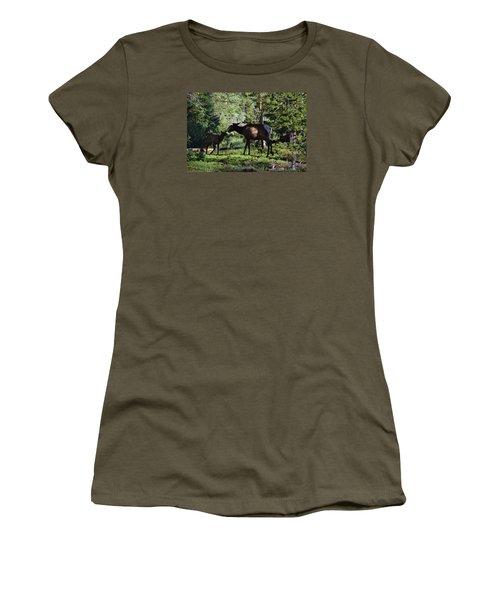 Elk Calf - Mother Rmnp Co Women's T-Shirt