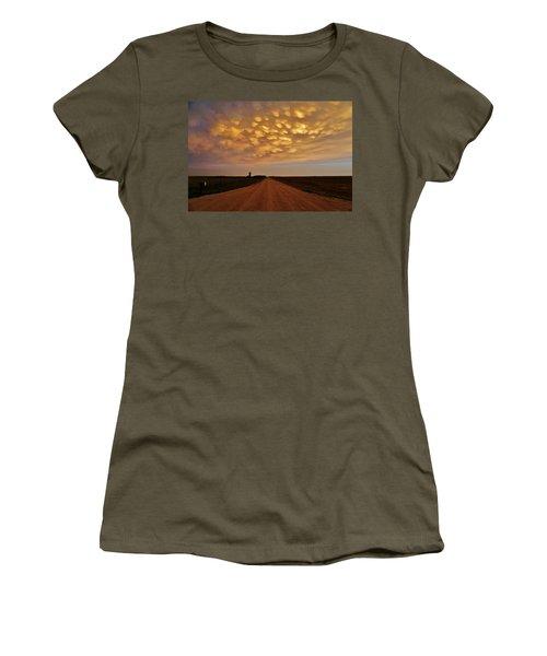 Mammatus Road Women's T-Shirt (Junior Cut) by Ed Sweeney