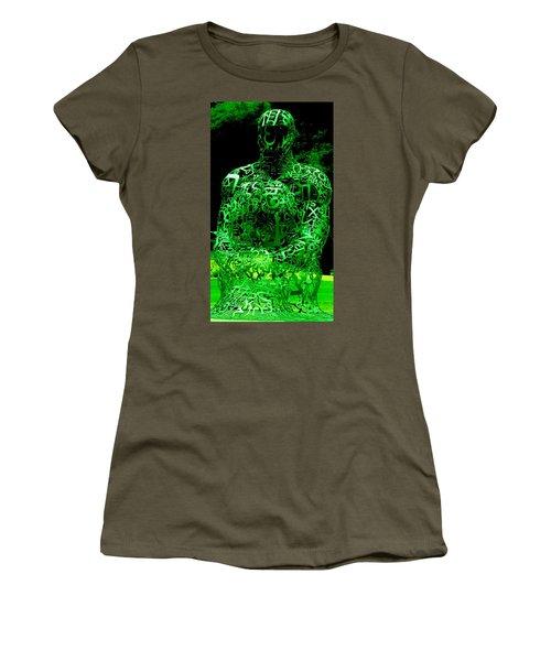 Man In Green Women's T-Shirt