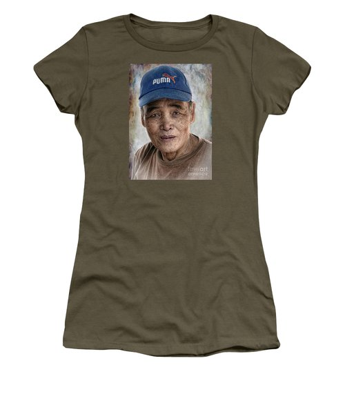 Man In The Cap Women's T-Shirt (Athletic Fit)