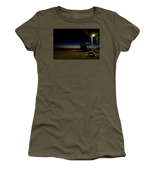 Manns Beach Nocturnal 2 Women's T-Shirt (Athletic Fit)