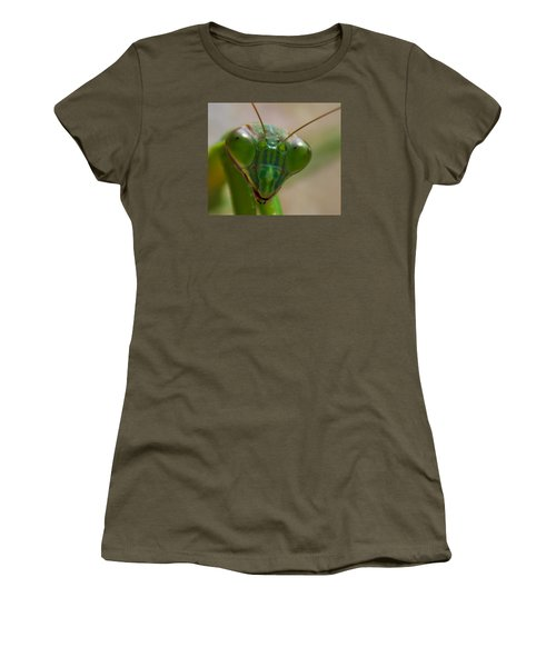 Mantis Face Women's T-Shirt (Junior Cut) by Jonny D
