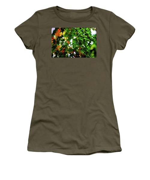 Maple In The Mist Women's T-Shirt (Junior Cut) by Mark Lucey