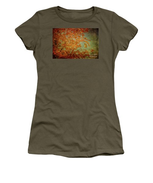 Women's T-Shirt (Athletic Fit) featuring the photograph Maple Leaves by Lois Bryan