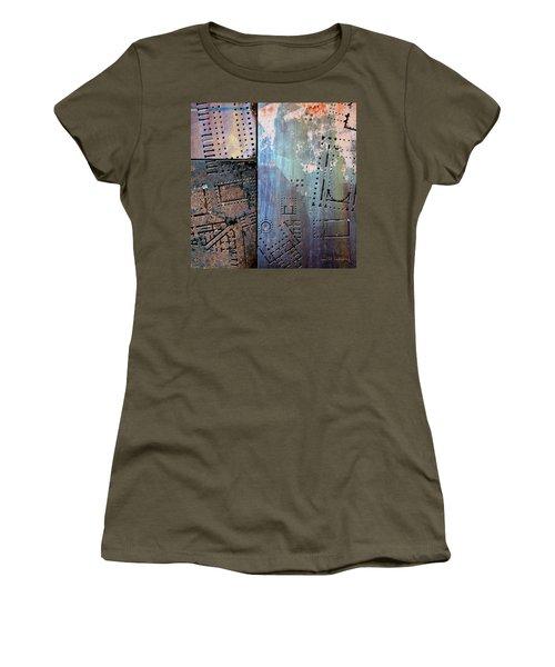Maps #9 Women's T-Shirt (Junior Cut) by Joan Ladendorf