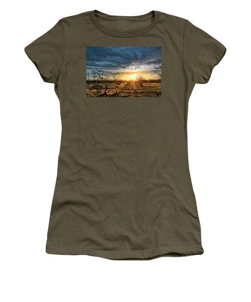 March Sunrise Women's T-Shirt (Athletic Fit)